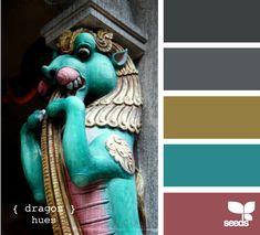 color palett, color paint, design seeds, dragons, dragon hue, designse pallettedragon, paint colors, color scheme, color inspir