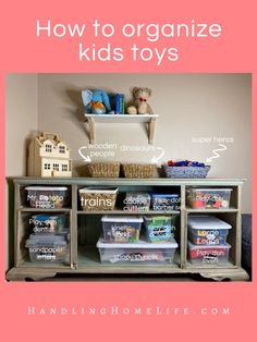 How great would life be if you knew how to organize kids toys and keep them that way? There are lots of ways to declutter and organize your kids toys. Organizing Kids Books, Organize Kids, Organizing Your Home, Laundry Room Storage, Family Organizer, Paper Organization, Tot School, Declutter, Kids Bedroom