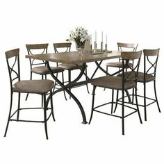 Home kitchen dining room furniture on pinterest for Non wood dining table