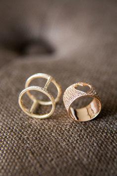 #Rings - designed by @Alexa Leigh | See her wedding on SMP - http://www.stylemepretty.com/destination-weddings/2014/01/03/aspen-co-wedding-at-the-st-regis-aspen-resort/ Samuel Lippke Studios