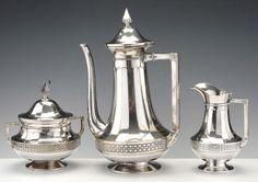 1920 WMF Art Deco Coffee & Tea Set - Tiroche