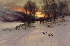 """""""When the West with Evening Glows"""" by Joseph Farquharson. http://www.annabelchaffer.com/"""