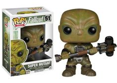 From the Fallout video game, it's the super mutant! Thanks to the Forced Evolutionary Virus, this once-human creature has green-brown skin, carries a weapon, and looks particularly mean. The Fallout Super Mutant Pop! Vinyl Figure measures approximately 3 3/4-inches tall. Ages 17 and up.#funko #popvinyl #actionfigure #collectible #Fallout #SuperMutant Fallout 4 Weapons, Fallout Game, Fallout Funny, Vinyl Toys, Funko Pop Vinyl, Overwatch, Playstation, Avatar, Latest Video Games