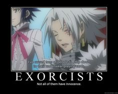 funny d. gray man demotivational | Anime Demotivational Poster Oh lord, that pun!