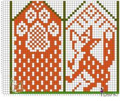 Knitting Graph Paper, Knitting Charts, Loom Knitting, Knitting Socks, Baby Knitting, Knitting Patterns, Crochet Patterns, Knitted Mittens Pattern, Knit Mittens