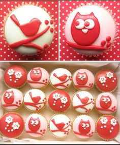 Gorgeous bird cupcakes