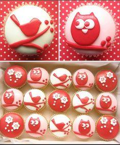 Gorgeous bird cupcakes