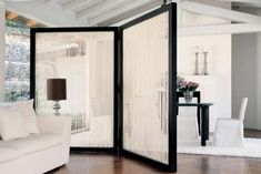 Modern take on a japanese room divider. Chic.