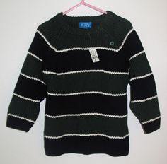 - Children's Place navy and forest green striped knit sweater - size 3T - brand new with tags - 56 % cotton 44 % acrylic - 18 NIS- Children's Place navy and forest green striped knit sweater - size 3T - brand new with tags - 56 % cotton 44 % acrylic - 18 NIS