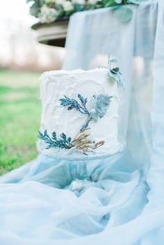 Dusty miller wedding cake | Elisheva Golani Photography and Belle Soul Weddings |  see more on: http://burnettsboards.com/2015/05/romantic-dusty-blue-wedding/
