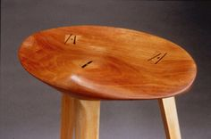 Detail from the architect's stool at Piper Woodworking--love it Furniture Chairs, Home Furniture, Furniture Design, Wood Bar Stools, Wood Stool, Chair Bench, Lounges, Made Of Wood, Custom Wood