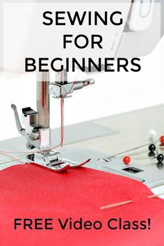 This sewing for beginners class will teach you all of the basic sewing skills you'll need to start sewing your own projects! Sewing for beginners easy to learn video tutorial. Sewing for beginners tutorials can help you learn how to sew home decor proje Sewing Basics, Sewing Hacks, Sewing Tips, Basic Sewing, Sewing Lessons, Sewing Ideas, Learn Sewing, Sewing Crafts, Sewing For Beginners Tutorials