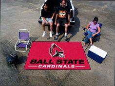 "Ulti-Mat Tailgating Rug - Ball State University Cardinals.(60"" x96"")"