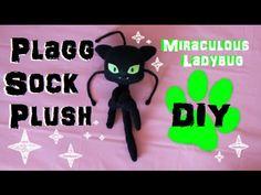 ❤ DIY Plagg Sock Plush! A Miraculous Ladybug Kwami plushie tutorial! ❤ - YouTube