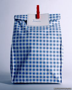 "Oilcloth Crafts: Lunch Bags - Martha Stewart Kids' Crafts (Also, use this tutorial for reusable ""ziplock baggies"")"
