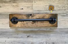 This handmade industrial, rustic design, one of a kind towel bar holder will take you back to simple, ordinary things. It can be a great organizing choice for your bathroom, kitchen, laundry room, garage and much more. The neat combination of wood and pipe will make everyone stop, stare and wonder! Rustic Bathroom Decor, Wood Bathroom, Bathroom Sets, Farmhouse Decor, Bathroom Rack, Industrial Bathroom, Modern Bathroom, Distressed Mason Jars, Distressed Mirror