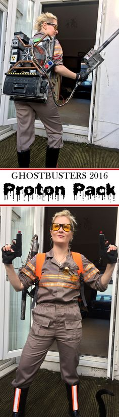 Holtzmann's outfit and proton pack from 2016 Ghostbusters!