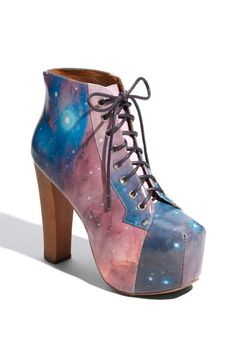 Jeffrey Campbell 'Lita' Print Leather Bootie maybe DIY with thrift store shoes?