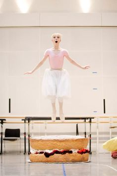 "Sarah Lamb in rehearsal for the Royal Ballet's ""Alice's Adventures in Wonderland."" Photo by Johan Persson."