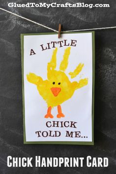 Chick Handprint Card