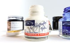 A Guide to Calligraphy Inks | The Postman's Knock :: Learn which inks to use.