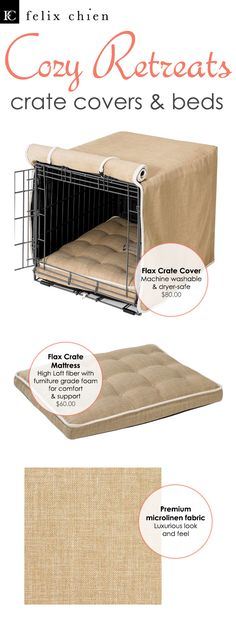 Discover beautiful designs in our crate cover collection! These luxury dog products not only make your dog's crate look gorgeous; they also add designer styling to your home.