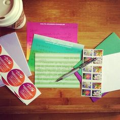 A little snail mail to start the day along with some coffee! #snailmail #snailmailrevolution #coffee #riseandgrind #instadaily #letters #handwrittenletter #snailmailrocks #iheartmail #usps #uspsstamps #stamps #postalservice