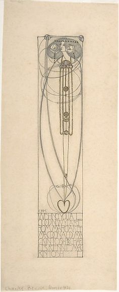 Drawing for a New Year's Card Charles Rennie Mackintosh (British, Glasgow, Scotland 1868–1928 London)