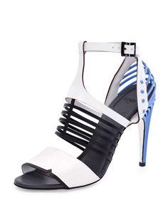 A bit sporty, a bit futuristic. We love this artful shoe by Fendi.