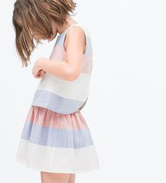 Image 7 of Striped dress with open back from Zara