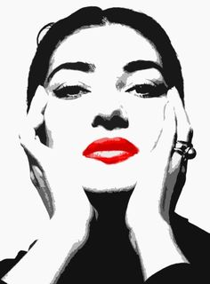 Maria Callas faces