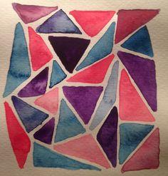triangle watercolor