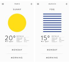 Gabriel Nazoa - Weather app - Expolore the best and the special ideas about App design Application Ui Design, Interaktives Design, App Ui Design, User Interface Design, Flat Design, Weather Application, Design Color, Brand Design, Design Ideas