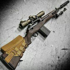 @metalhead_1  CrazyHorse! The M14SE CrazyHorse Semiautomatic Sniper System, with @leupoldoptics MK4 LR/T riflescope at @otbfirearms. Same configuration used by Delta. #badass #beastmode #sniper #metalhead