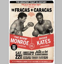 boxing poster - Google Search