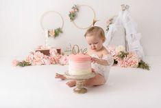 Girls First Birthday Cake, Birthday Cake Smash, Baby Girl Birthday, 1st Birthday Parties, Twin Cake Smash, Cake Smash Photos, Bohemian Cake, 1st Birthday Photoshoot, Cake Smash Photography