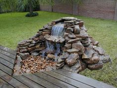 Cool 99 Graceful Backyard Waterfall Ideas on A Budget https://homeastern.com/2017/10/01/99-graceful-backyard-waterfall-ideas-budget/