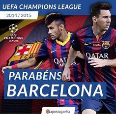 O ApostaGanha parabeniza o FC Barcelona pela conquista da Liga dos Campeões da Europa! A quinta UEFA Champions League da história do clube!  #barcelona #championsleague #apostas #apostasonline #futebol #juventus