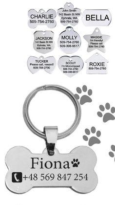 Zawieszka identyfikator dla zwierząt spersonalizowana Personalized Dog Tags Cat Tags, Pet Id Tags, Personalized Dog Tags, Pets