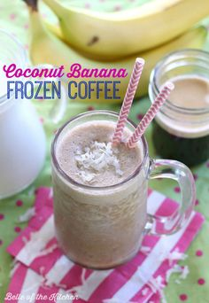 Are you a coffee drinker? Smoothie Lover? Then try this Coconut Banana Frozen Coffee for the perfect combination of the two!