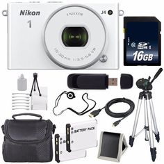 Special Offers - Nikon 1 J4 Mirrorless Digital Camera with 10-30mm Lens (White)  EN-EL22 Replacement Lithium Ion Battery  16GB SDHC Class 10 Memory Card  Full Size Tripod  Carrying Case  Micro HDMI Cable  SD Card USB Reader  Memory Card Wallet  Lens Cap Keeper  Deluxe Starter Kit 6AVE Bundle - In stock & Free Shipping. You can save more money! Check It (May 05 2016 at 12:32PM)…