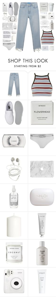 """[40]"" by voidelle ❤ liked on Polyvore featuring M.i.h Jeans, Motel, Vans, Byredo, MAC Cosmetics, Calvin Klein, Herbivore, H2O+, H&M and Fresh"
