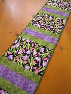 Floral Quilted Table Runner by patchworkmountain.com