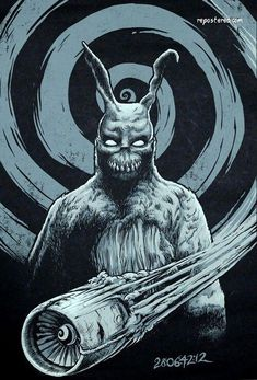 I really like the idea of having a Jet-engine from Donnie Darko as a tattoo. It would be cool to have Frank in the background, or that Donnie Darko Solar Plexis Anatomy tattoo. An idea definitely to be tinkered with. Donnie Darko Movie, Donnie Darko Frank, Horror Art, Horror Movies, Real Horror, Drawn Art, Epic Movie, Best Horrors, Tatoo Art