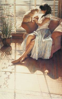 Ashley and Clyde by Steve Hanks (american painter)