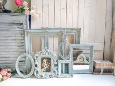 Your place to buy and sell all things handmade French Cottage Decor, French Country Bedrooms, Shabby Chic Cottage, Shabby Chic Decor, Rustic French, French Chic, Ornate Picture Frames, Theme Color, Vintage Frames