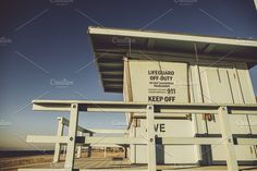 Lifeguard Tower by Josh Glaze  on @creativemarket
