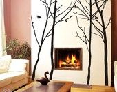 Extra size tree forest protect nature----Removable Graphic Art wall decals stickers home decor. $148.95, via Etsy.