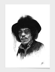 """""""Hendrix"""" - Numbered Art Print by Balázs Solti on Curioos"""