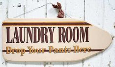 "Primitive ""Laundry Room"" Wooden Sign - Signs & Ornaments - Home Decor"